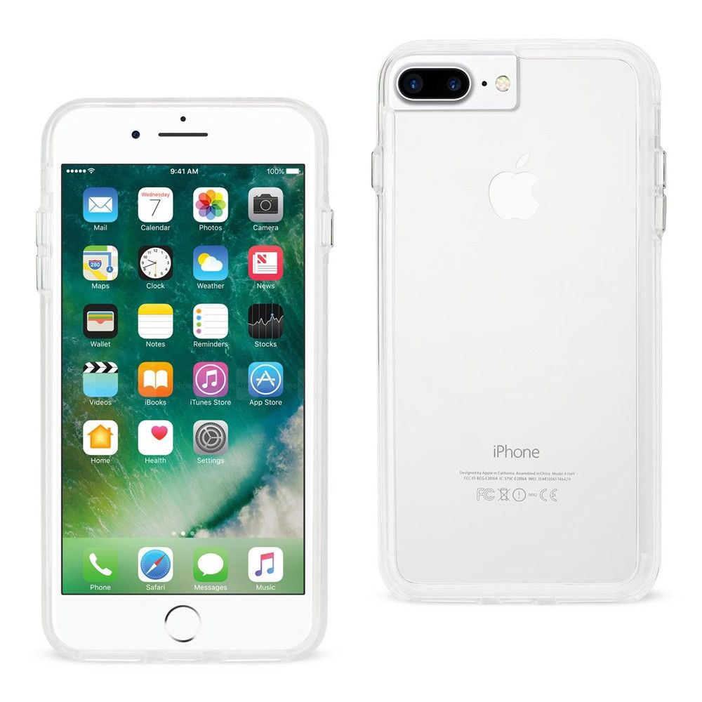 Apple iPhone 8 Plus -  Transparent Bumper Frame Case, Clear