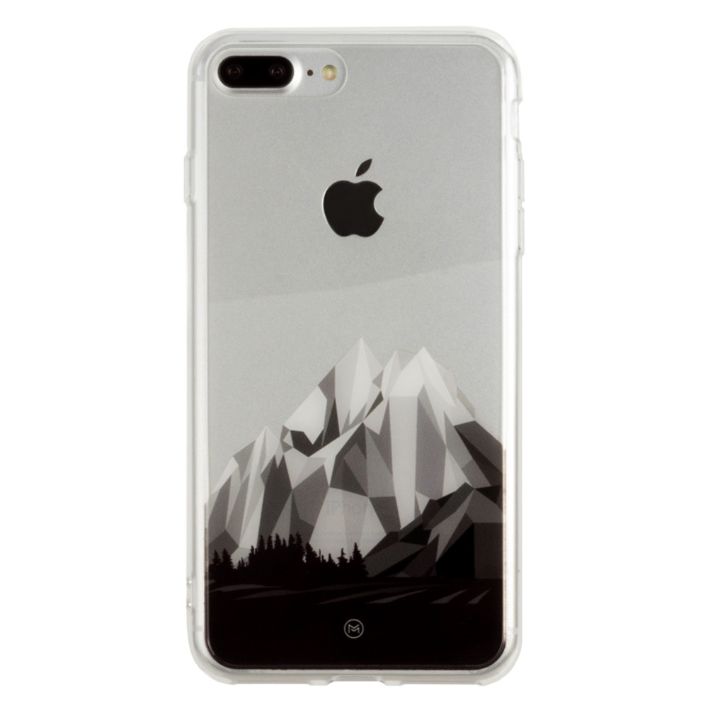 Apple iPhone 8 Plus -  Ultra Clear Grayscale Glacier Slim Case, Clear/Gray
