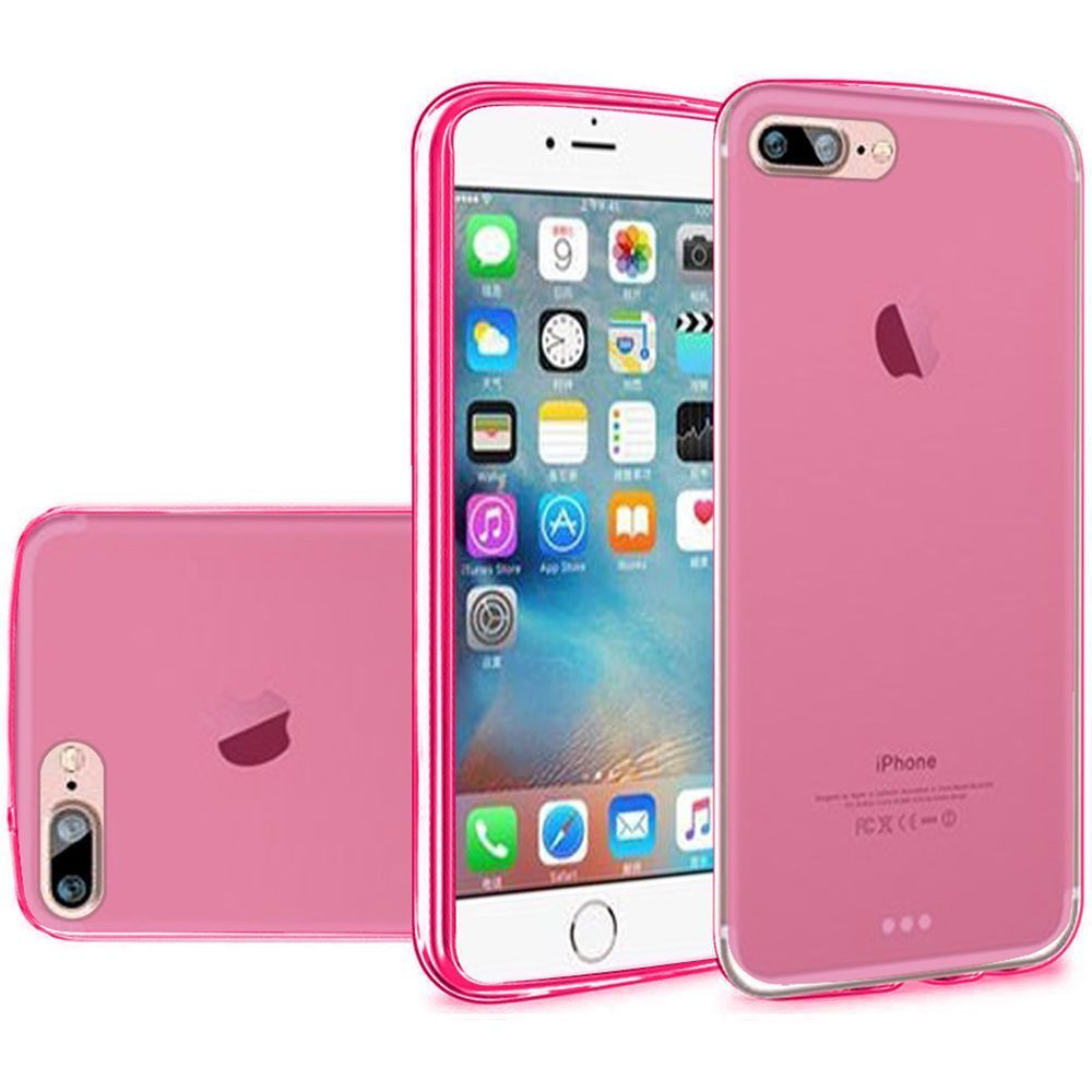 Apple iPhone 8 Plus -  TPU Case, Hot Pink