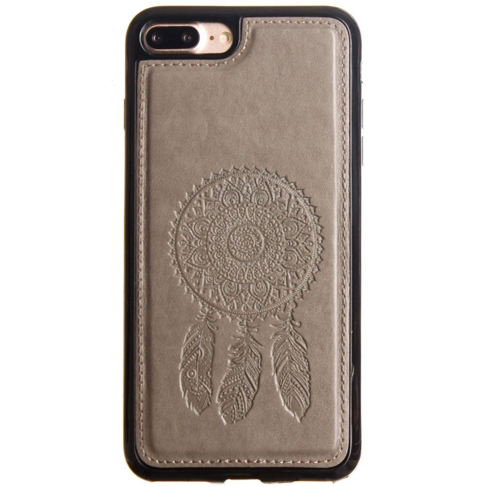 Apple iPhone 8 Plus -  Embossed Dream Catcher Design TPU Case, Gray