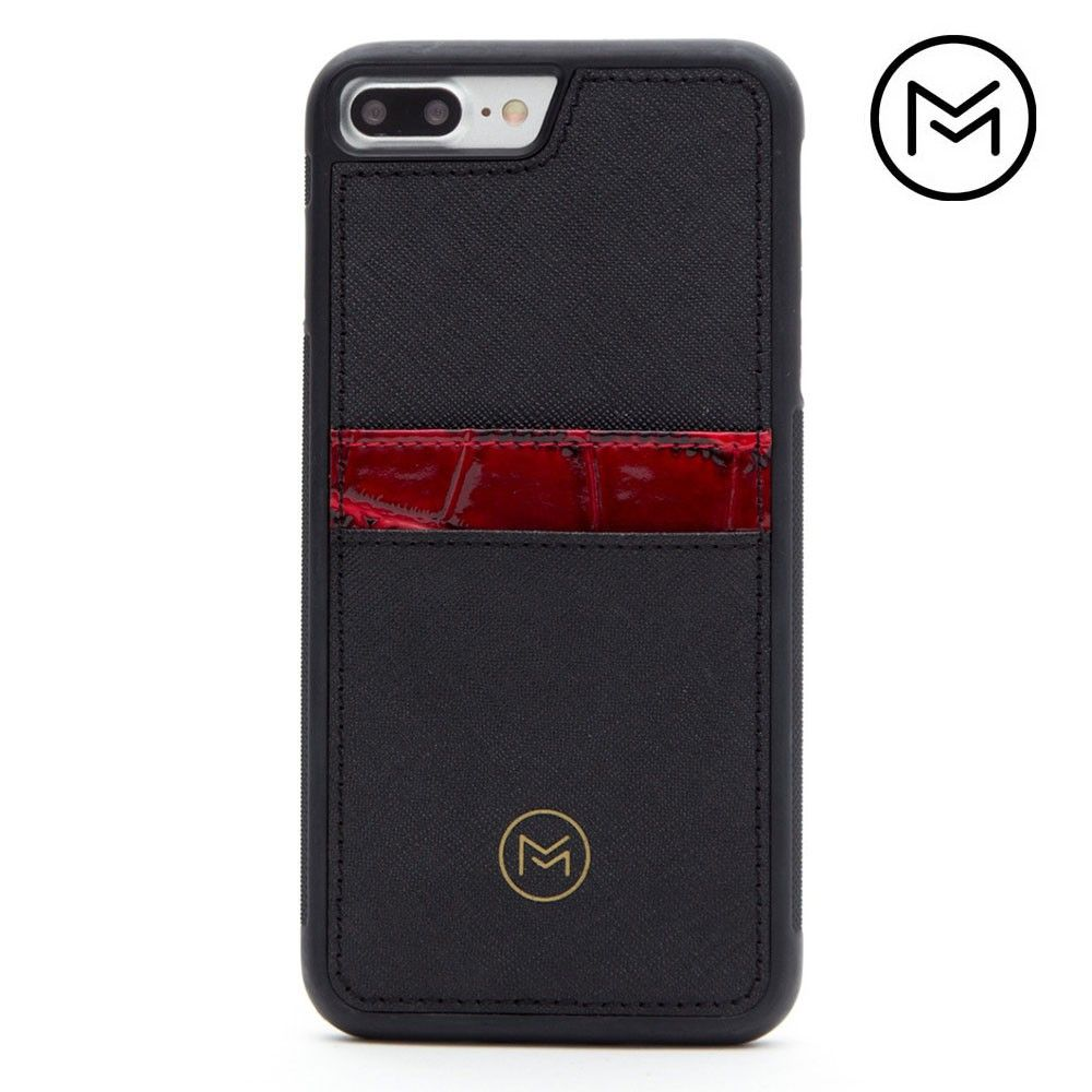 Apple iPhone 8 Plus -  Limited Edition Mobovida Acacia Card Case, Merlot/Black