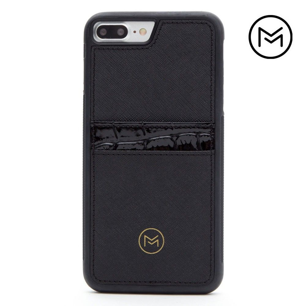 Apple iPhone 8 Plus -  Limited Edition Mobovida Acacia Card Case, Jet Black