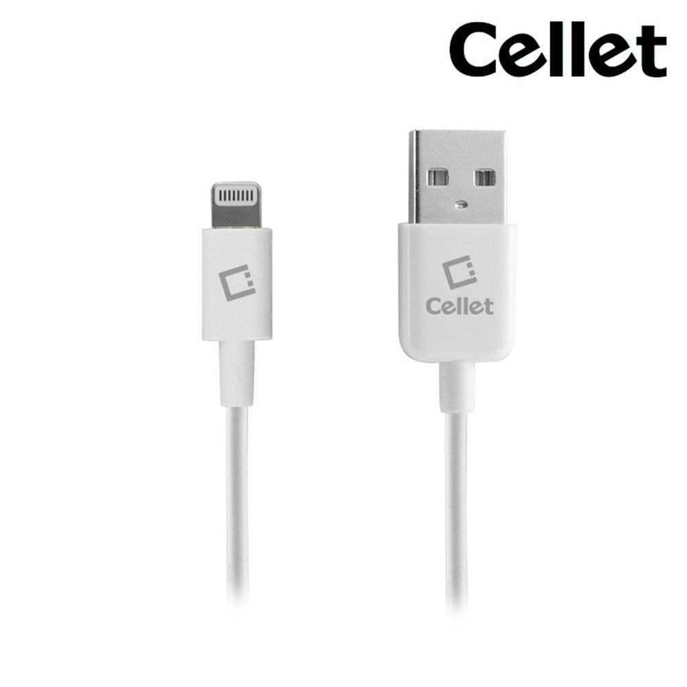 Apple iPhone 8 Plus -  4FT Cellet MFi Certified Lightning 8-Pin to USB Sync and Charge Cable, White