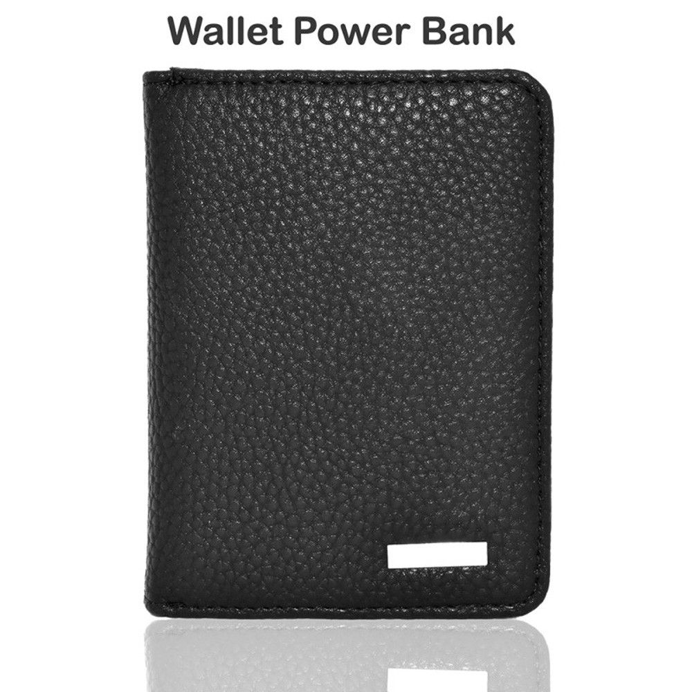 Apple iPhone 8 Plus -  Portable Power Bank Wallet (3000 mAh), Black