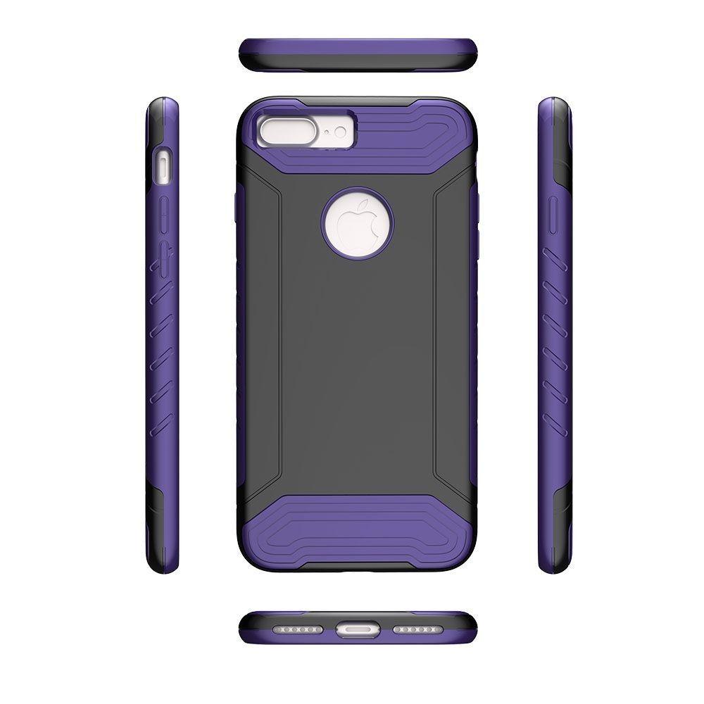 Apple iPhone 8 Plus -  Quantum Dual Layer Rugged Case, Black/Purple
