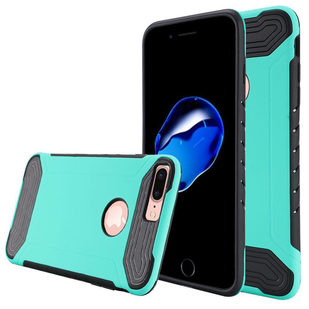 Apple iPhone 8 Plus -  Quantum Dual Layer Rugged Case, Teal/Black