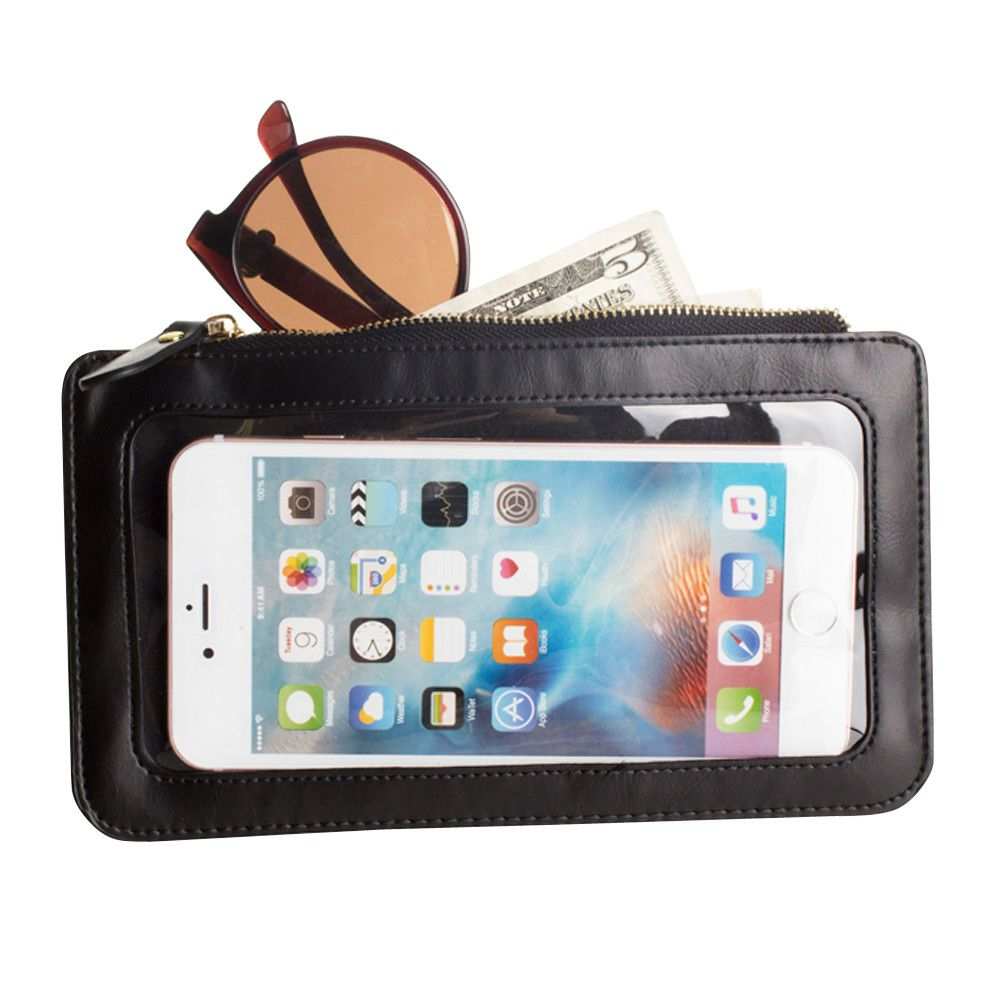 Apple iPhone 8 Plus -  Full Screen View Wristlet with Complete Touch Control,Black