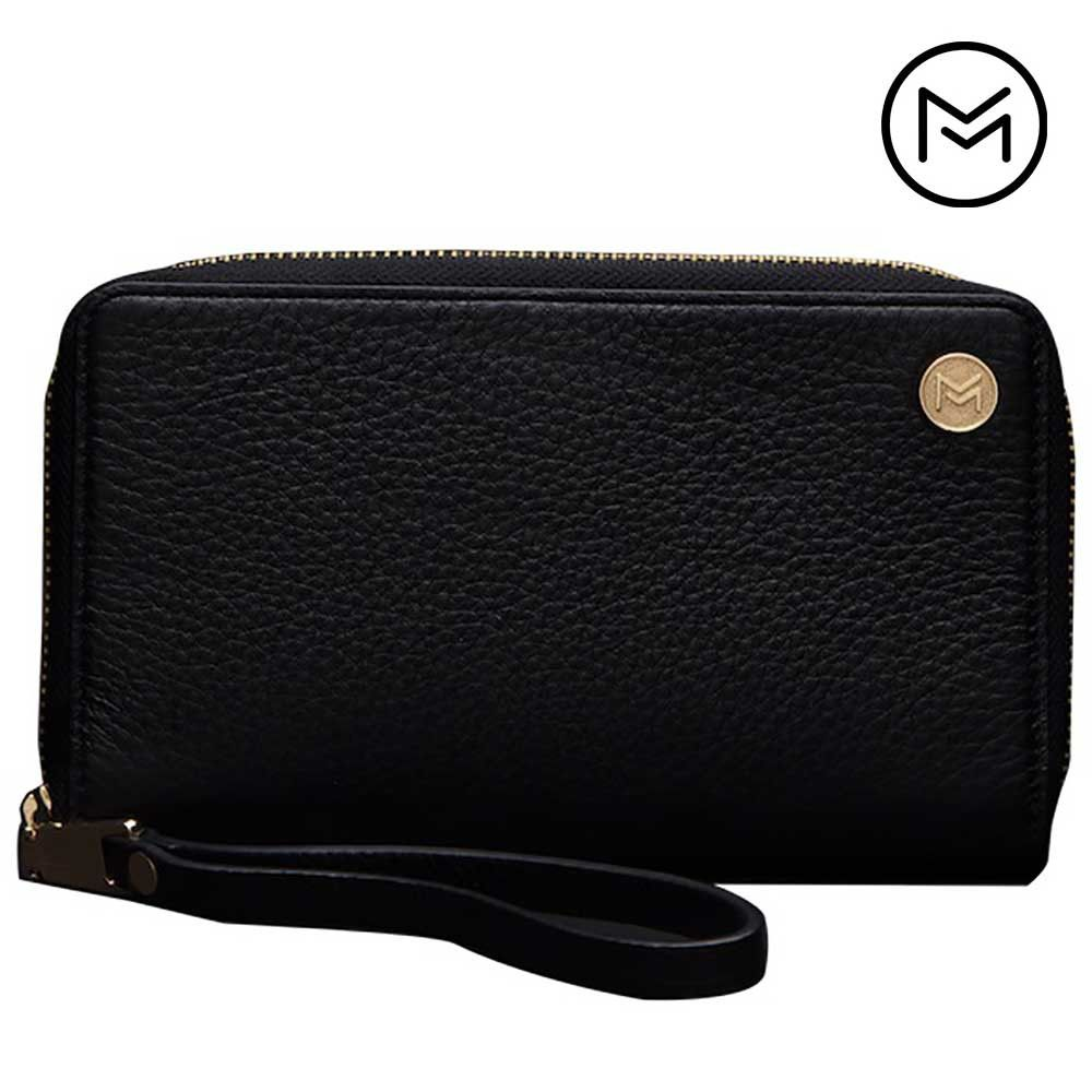 Apple iPhone 8 Plus -  Limited Edition Mobovida Fairmont Premium Leather Wristlet, Black