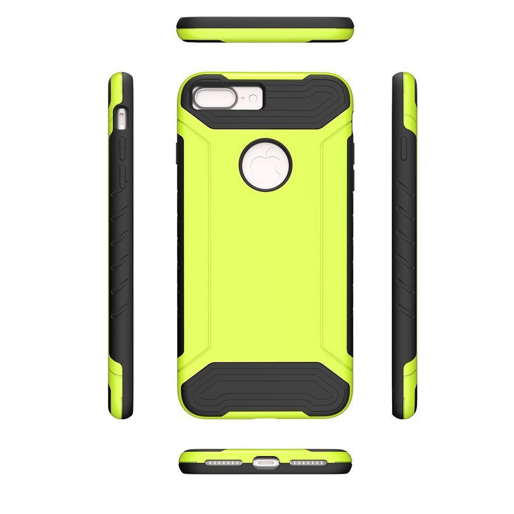 Apple iPhone 8 Plus -  Quantum Dual Layer Rugged Case, Neon Green/Black