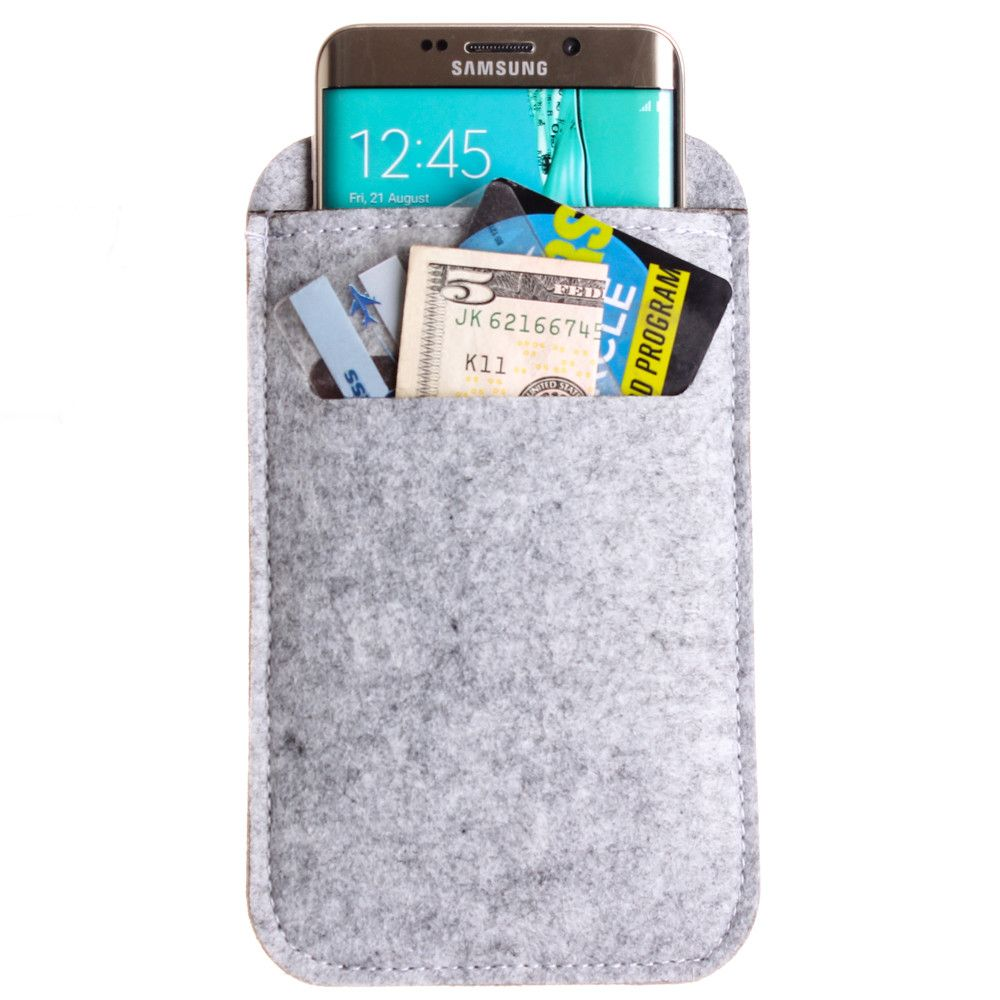 Apple iPhone 8 Plus -  Felt Wool SmartPhone Sleeve,Gray