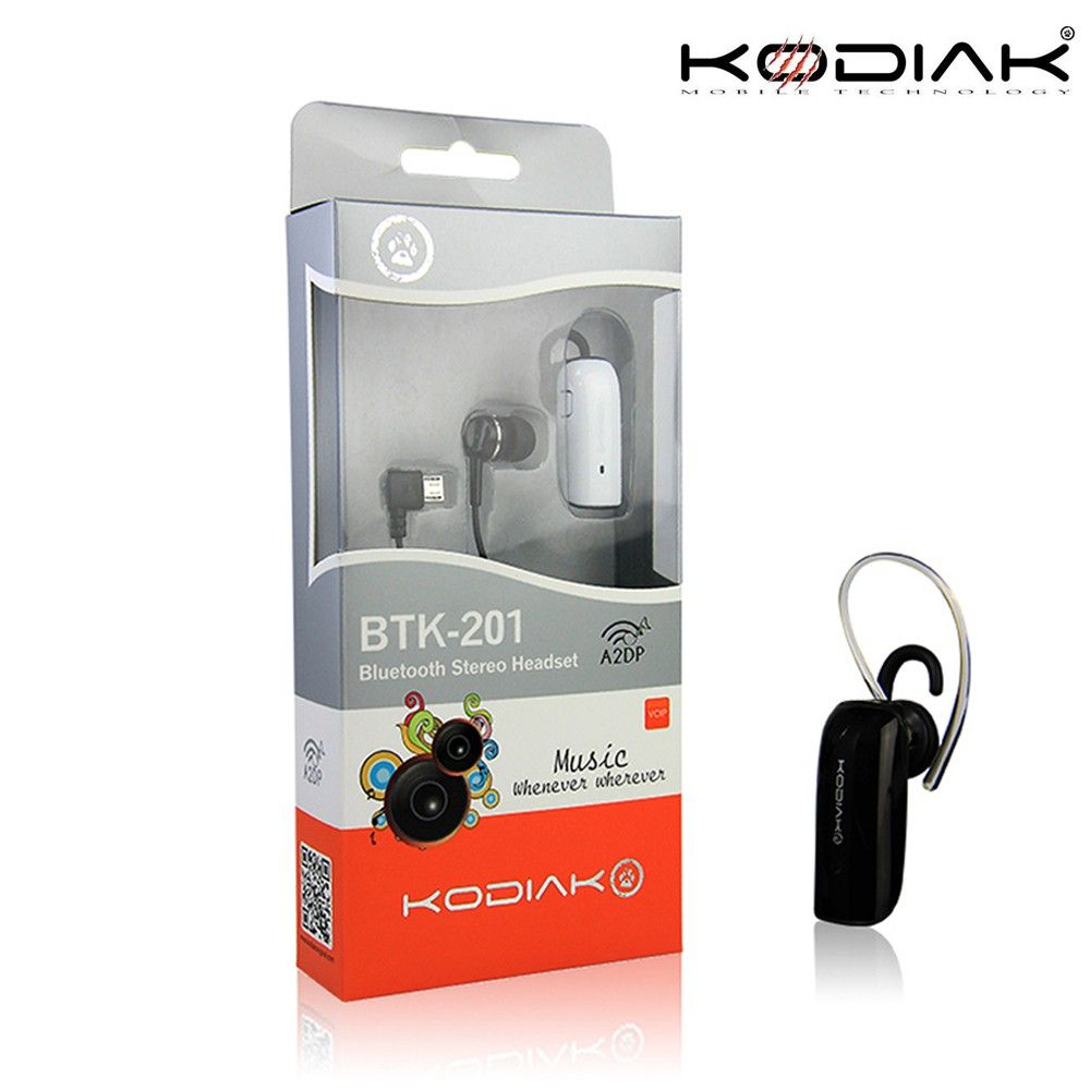 Apple iPhone 8 Plus -  Original Kodiak BTK-201 Multipoint Stereo Wireless Bluetooth Headset, Black