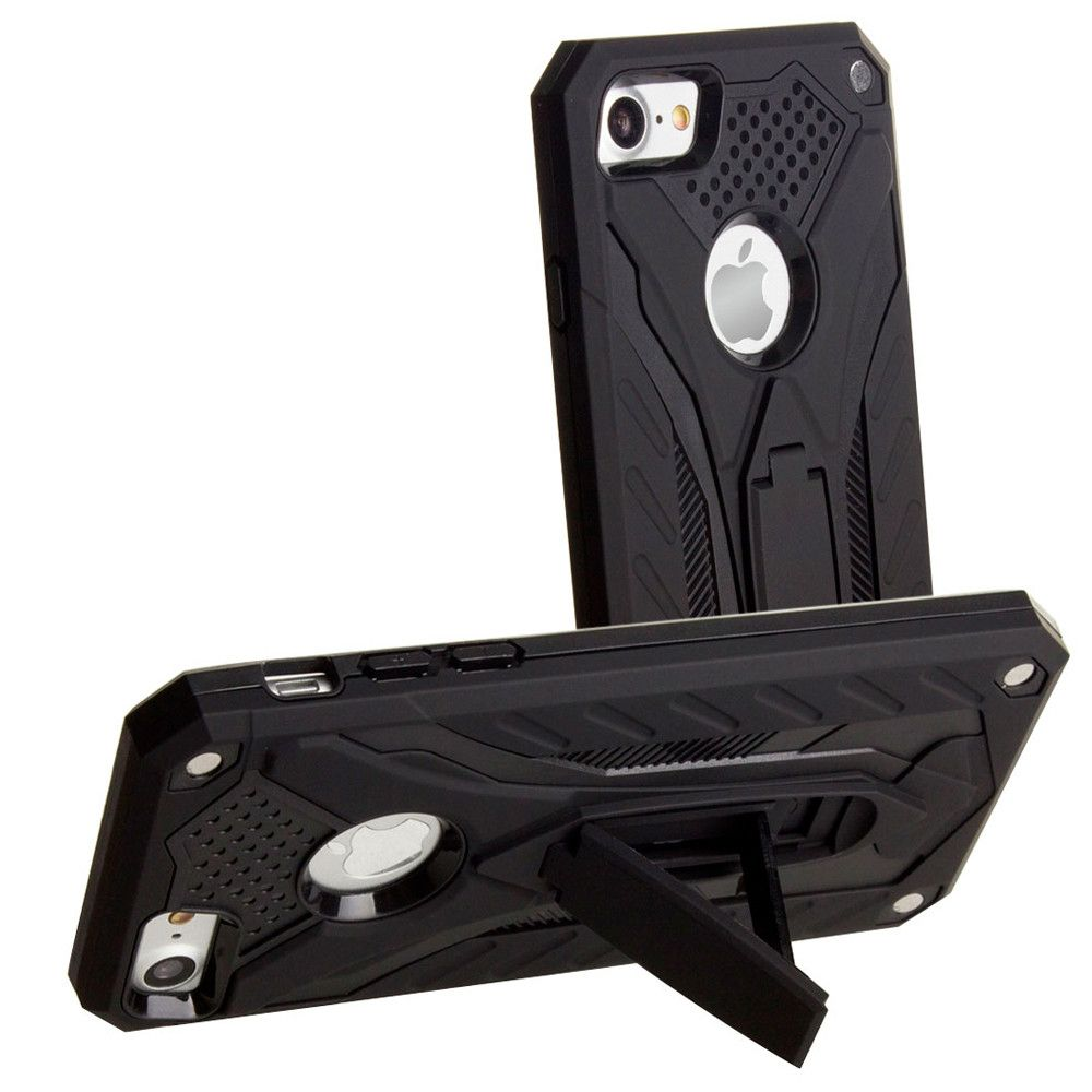 Apple iPhone 8 -  Armor Shockproof Hybrid Case with Stand, Black