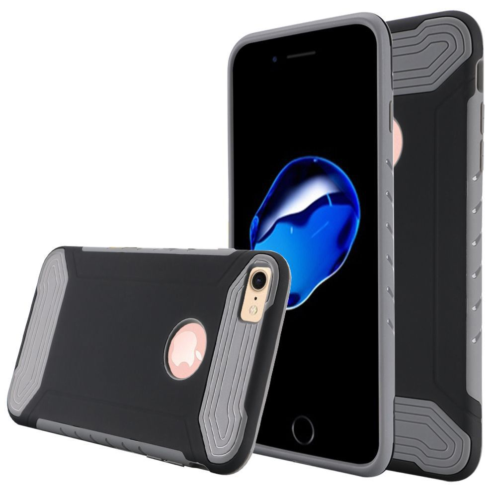 Apple iPhone 8 -  Quantum Dual Layer Rugged Case, Black/Gray