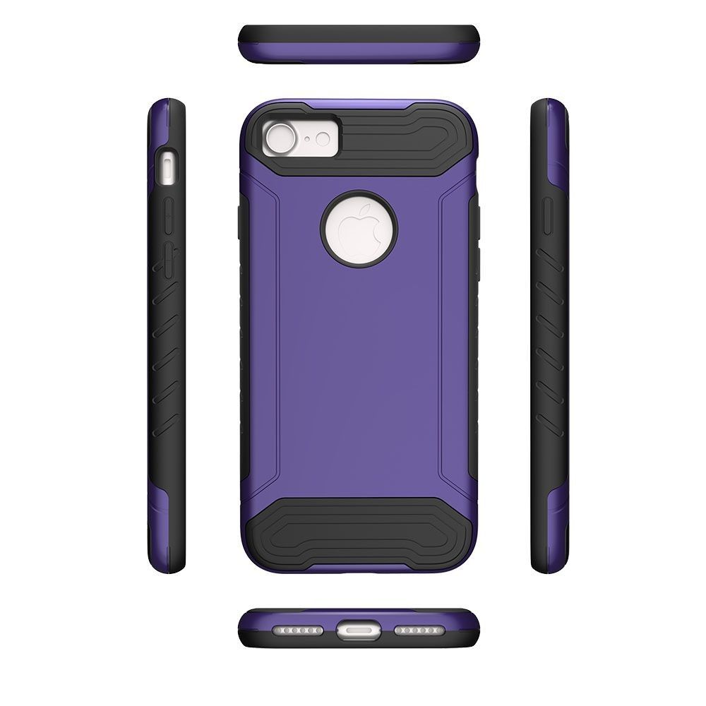 Apple iPhone 8 -  Quantum Dual Layer Rugged Case, Purple/Black