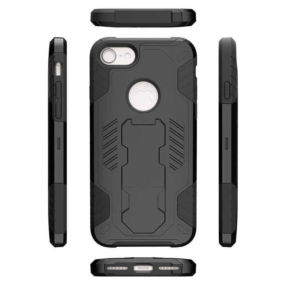 Apple iPhone 8 -  Mantas Heavy-Duty Rugged Case with Stand, Black