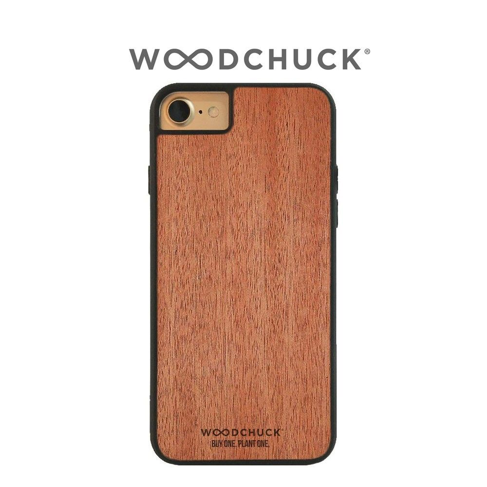 Apple iPhone 8 -  Original Woodchuck Genuine Handcrafted Wood Case, Mahogany