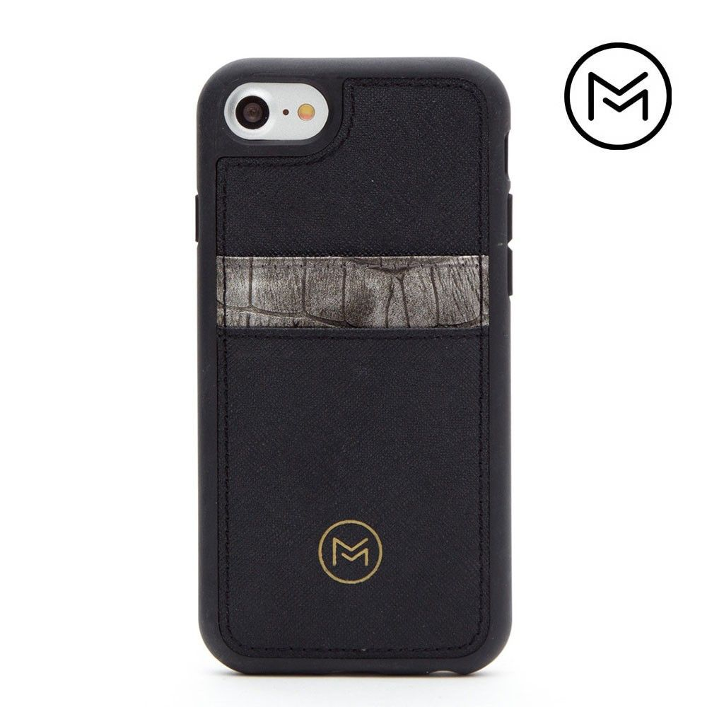 Apple iPhone 8 -  Limited Edition Mobovida Acacia Card Case, Slate/Black