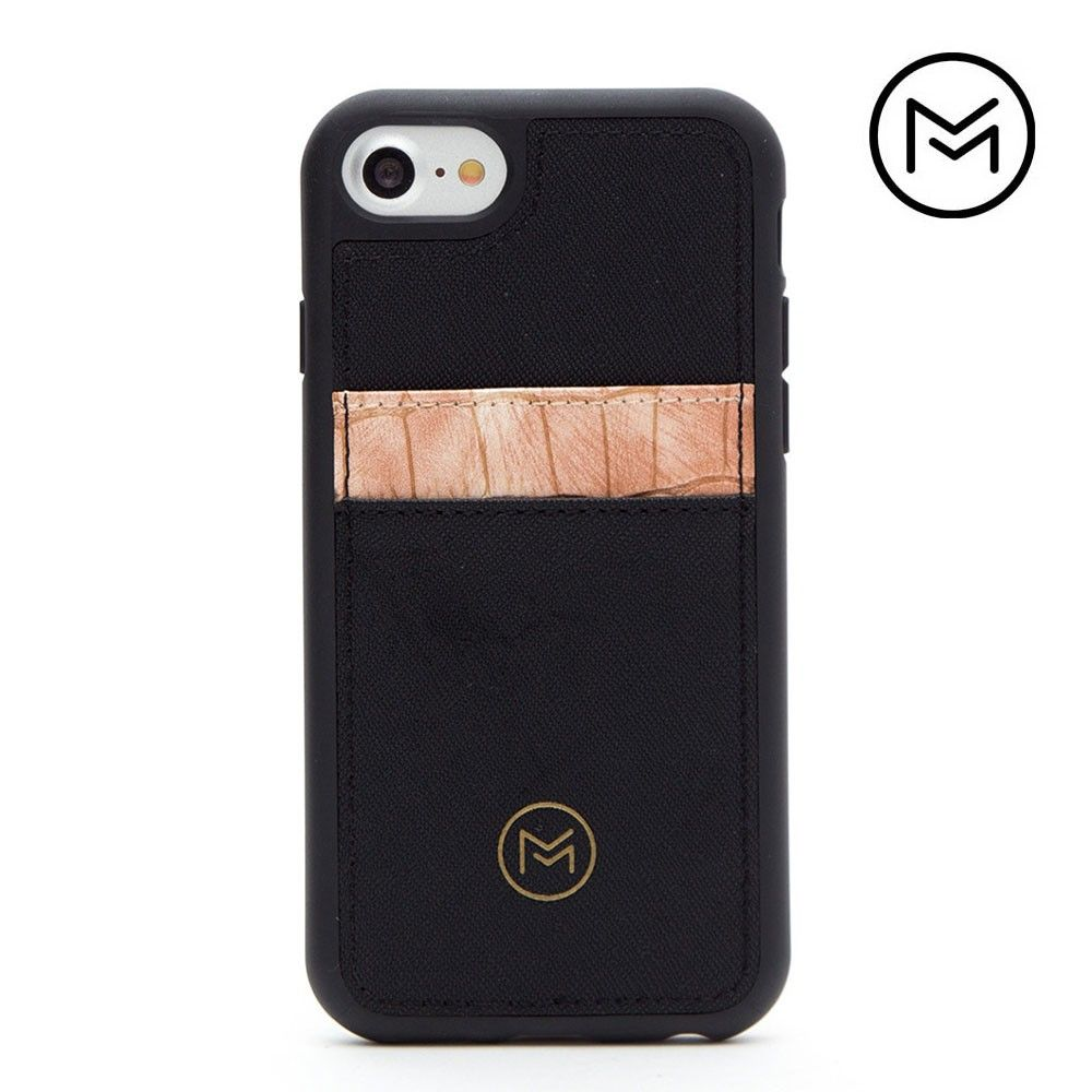 Apple iPhone 8 -  Limited Edition Mobovida Acacia Card Case, Rose/Black