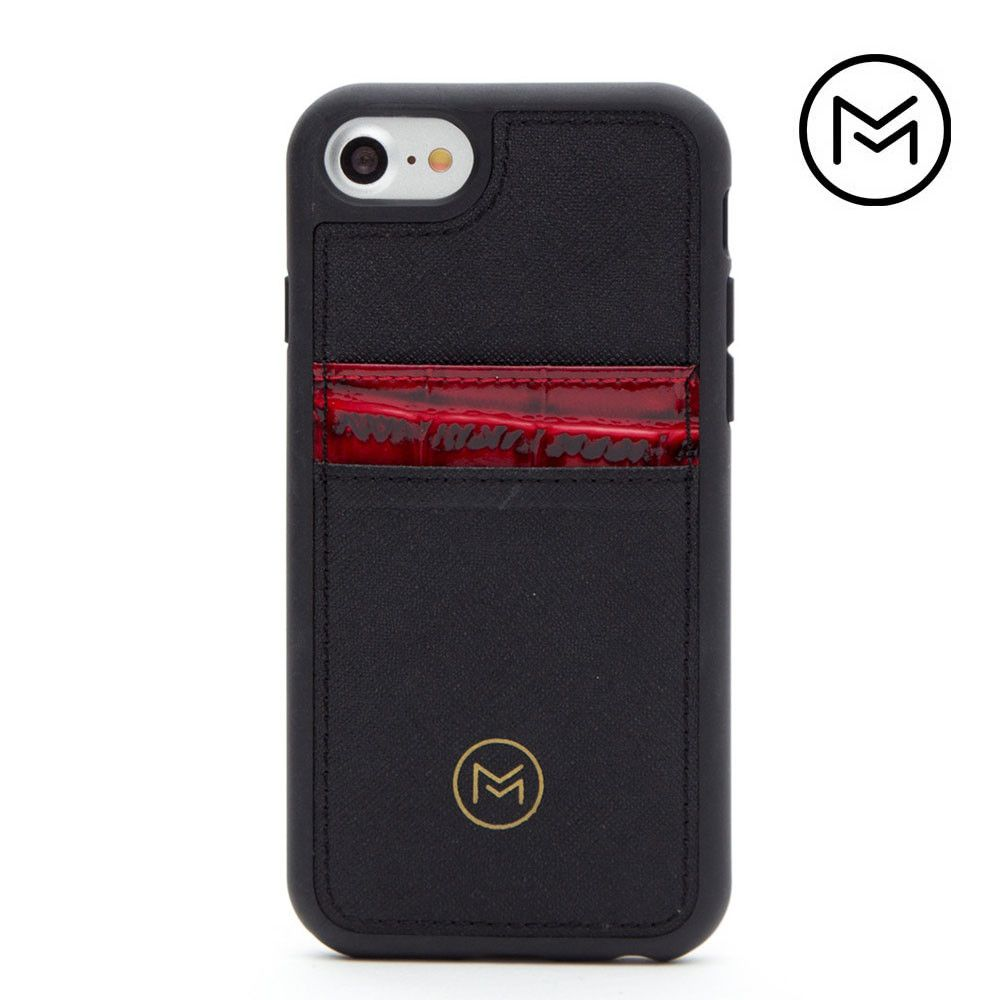 Apple iPhone 8 -  Limited Edition Mobovida Acacia Card Case, Merlot/Black