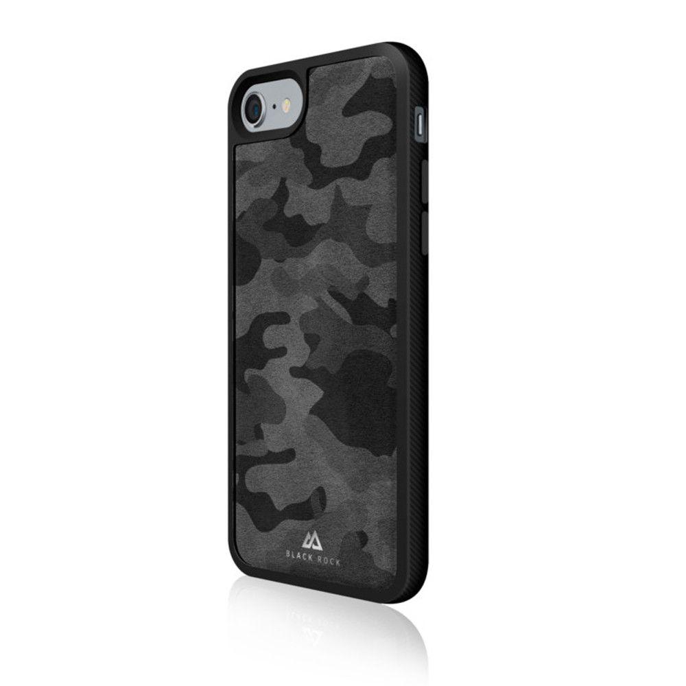 Apple iPhone 7 - Original Black Rock Leather Mesh Material Phone Case, Black