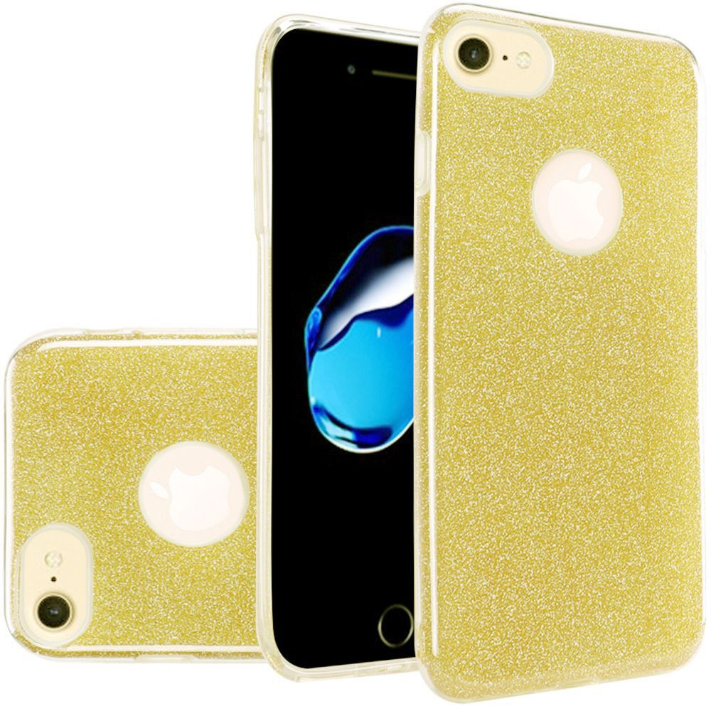 Apple iPhone 7 - TPU Glitter Case, Gold