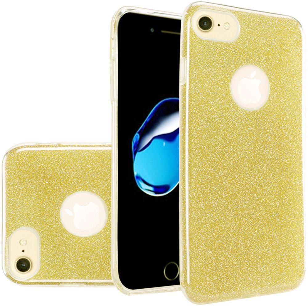 Apple iPhone 7 - TPU Glitter Case, Gold