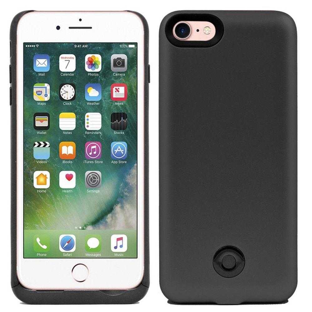 Apple iPhone 7 - External Battery Backup Power Case 3800mAh, Black