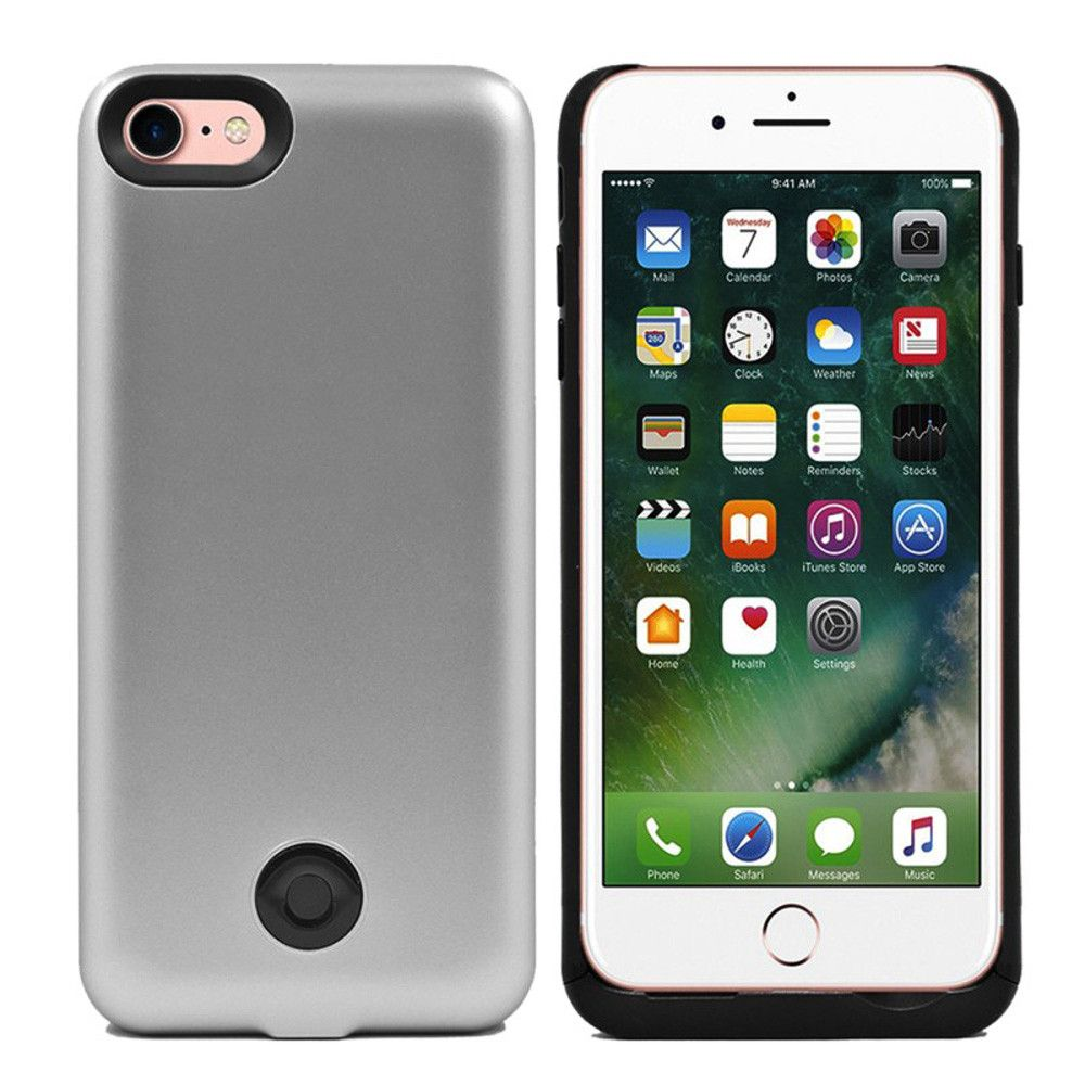 Apple iPhone 7 - External Battery Backup Power Case 3800mAh, Silver