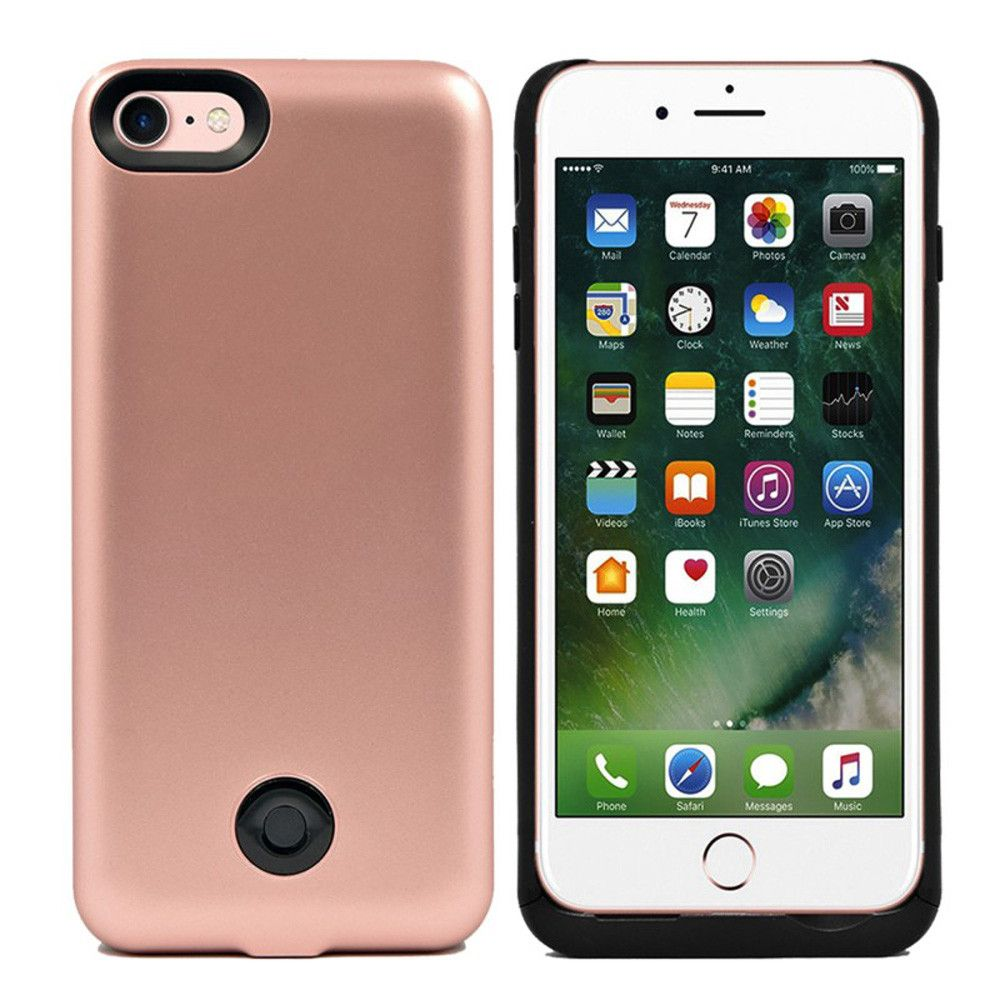 Apple iPhone 7 - External Battery Backup Power Case 3800mAh, Rose Gold