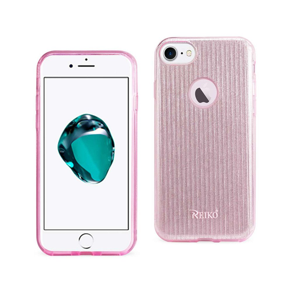 Apple iPhone 7 - Crystal Glitter Shimmering Hybrid Case, Pink