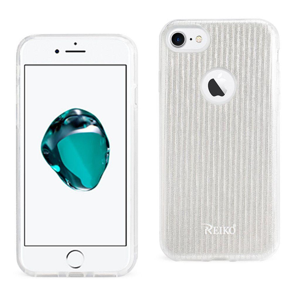 Apple iPhone 7 - Crystal Glitter Shimmering Hybrid Case, Silver