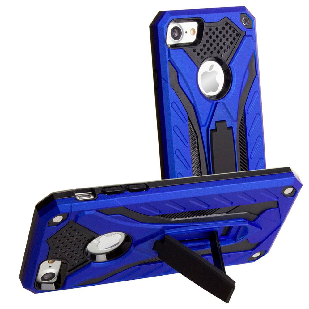 Apple iPhone 7 -  Armor Shockproof Hybrid Case with Stand, Blue