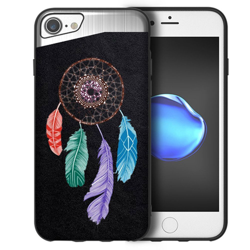 Apple iPhone 7 -  Dream Catcher Embroidered Slim Fashion Case, Multi-Color