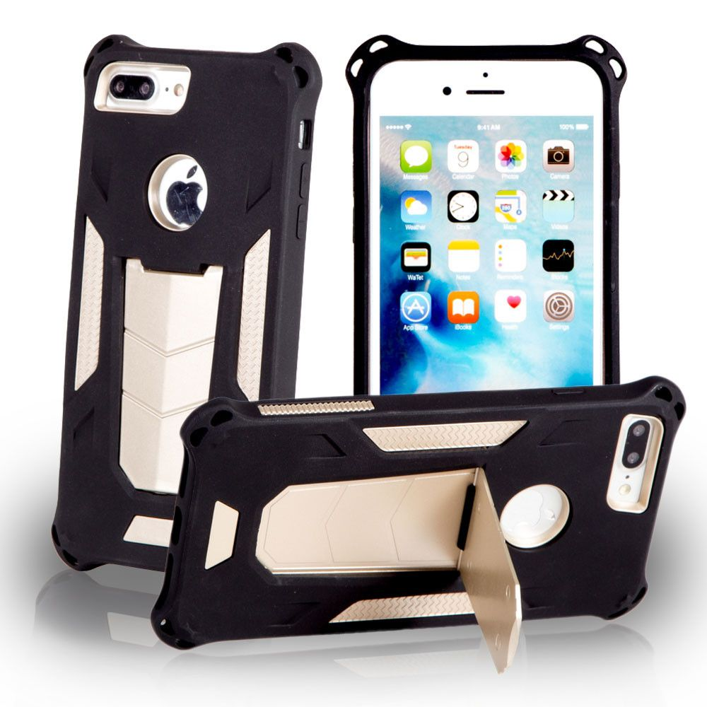 Apple iPhone 7 -  MAXX Shield Rugged Case with Stand, Gold/Black