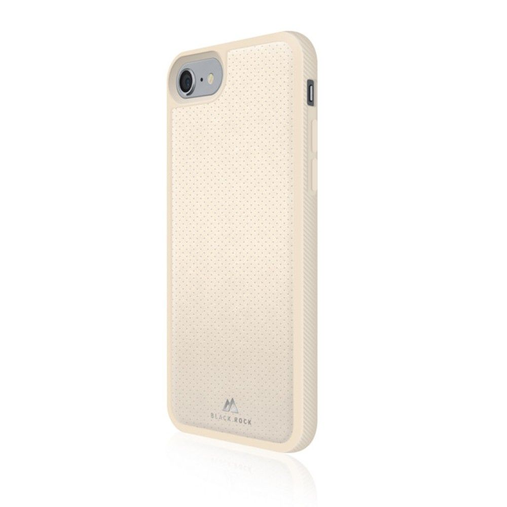 Apple iPhone 7 - Original Black Rock Leather Mesh Material Phone Case, Ivory