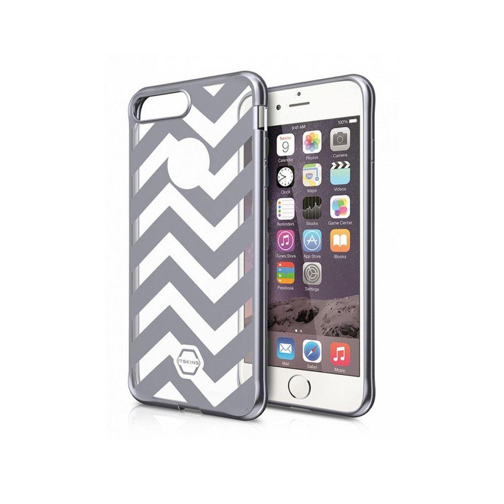 Apple iPhone 7 - Original ITSKINS Art Gel Chevron Stripes Phone Case, Gray