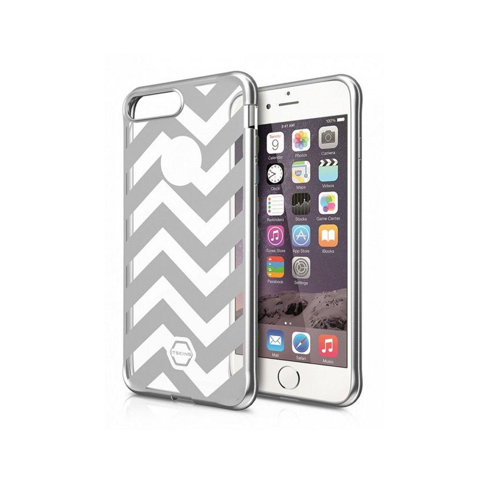 Apple iPhone 7 - Original ITSKINS Art Gel Chevron Stripes Phone Case, Silver