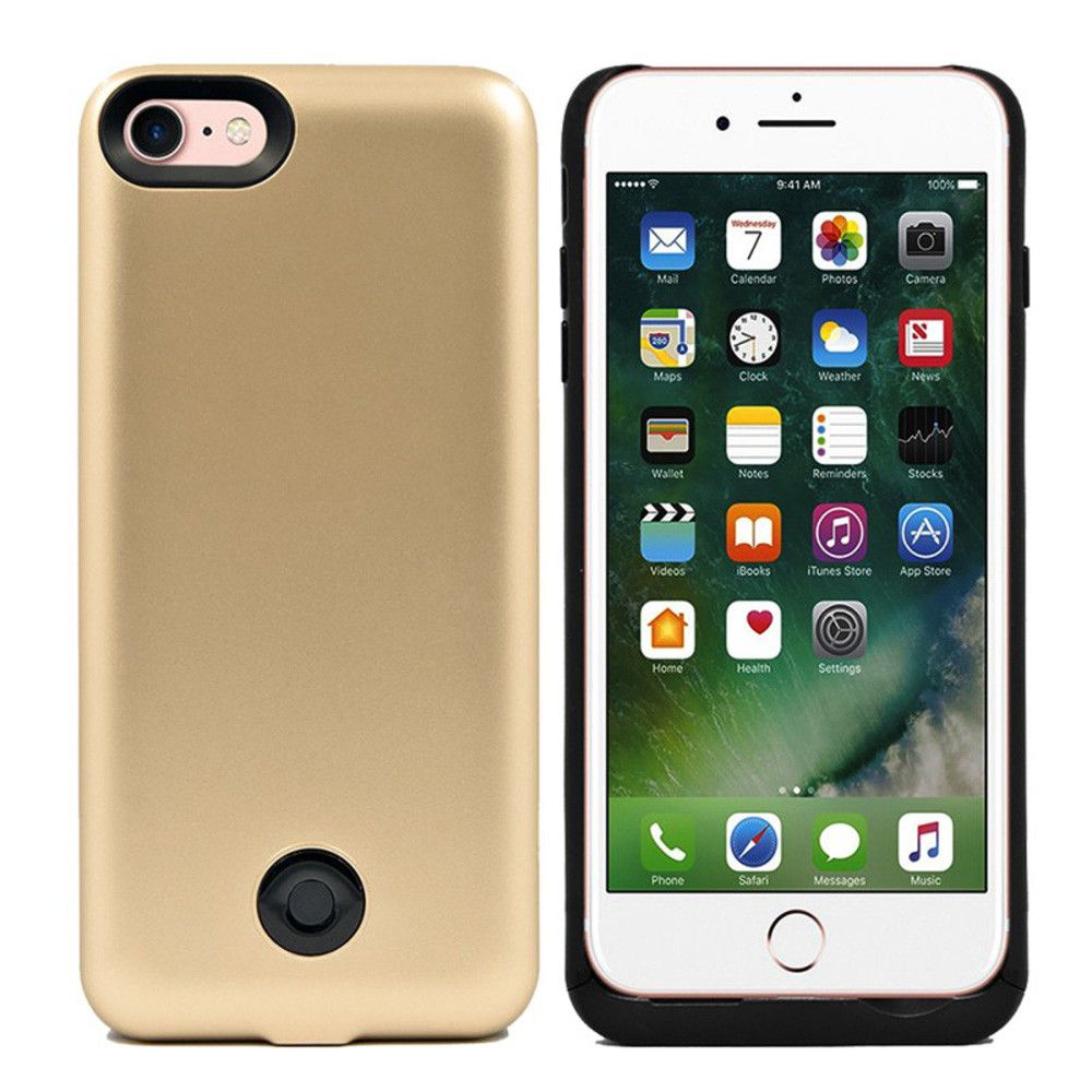 Apple iPhone 7 - External Battery Backup Power Case 3800mAh, Gold