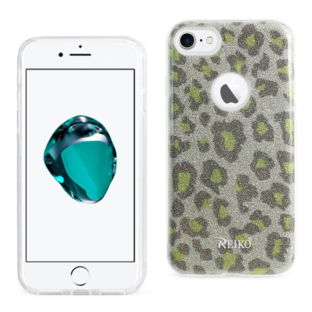 Apple iPhone 7 - Leopard Glitter Shimmering Hybrid Case, Gold