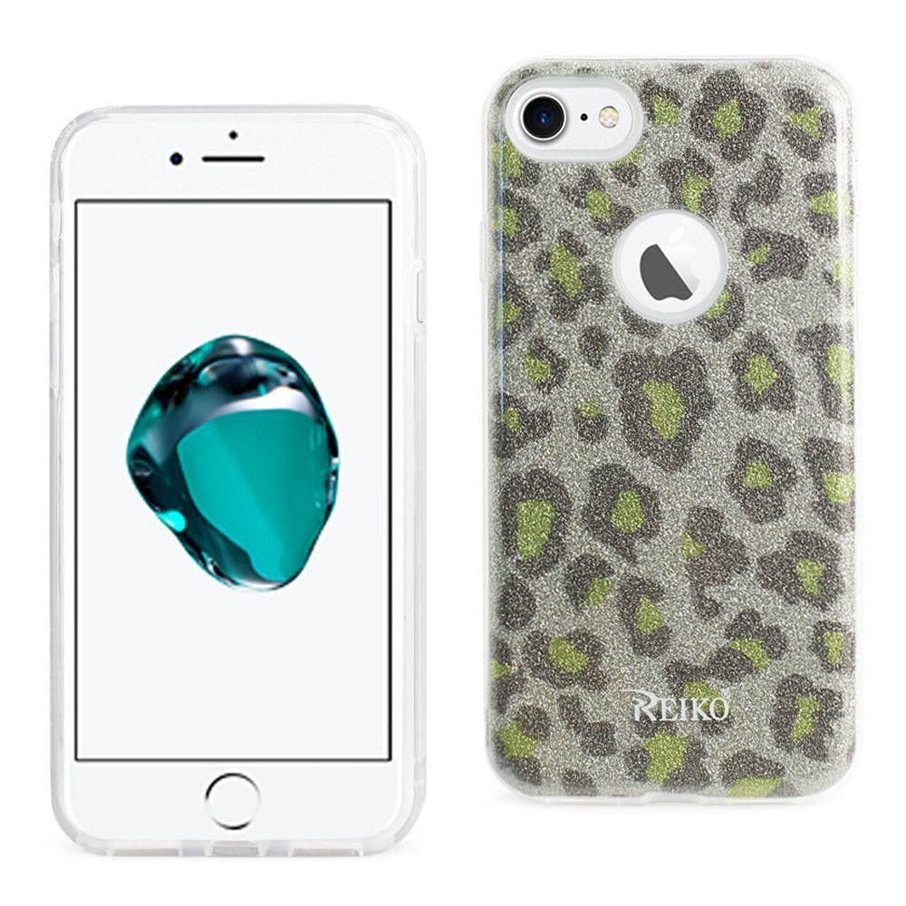 Apple iPhone 7 - Leopard Glitter Shimmering Hybrid Case, Gold