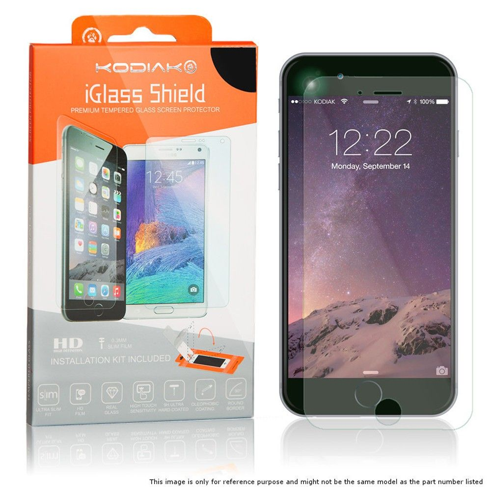 Apple iPhone 7 - Original Kodiak Screen Protector iGlass Shield Clear HD / Applicator included, Clear