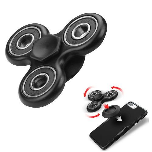 Apple iPhone 7 -  Fidget Toy Spinner with Adhesive and Holder, Black