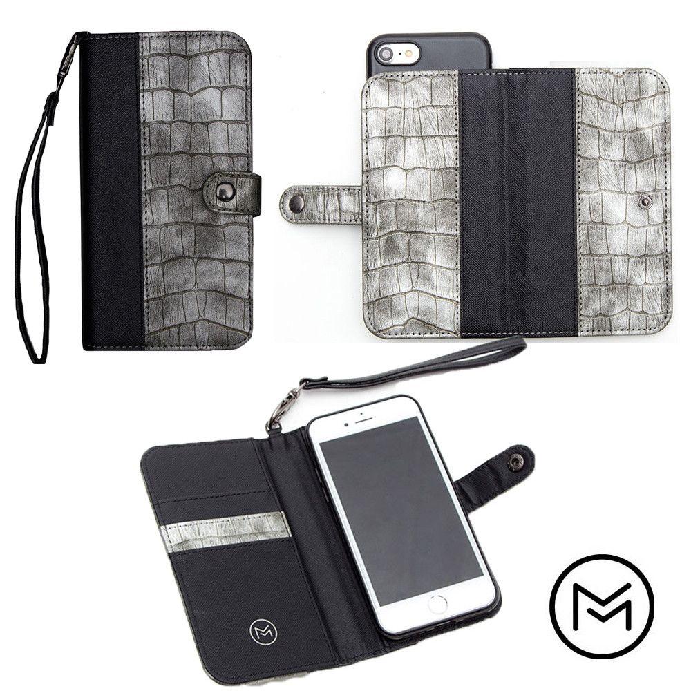 Apple iPhone 8 -  Limited Edition Mobovida Stanton Slide Wallet Case, Slate/Black