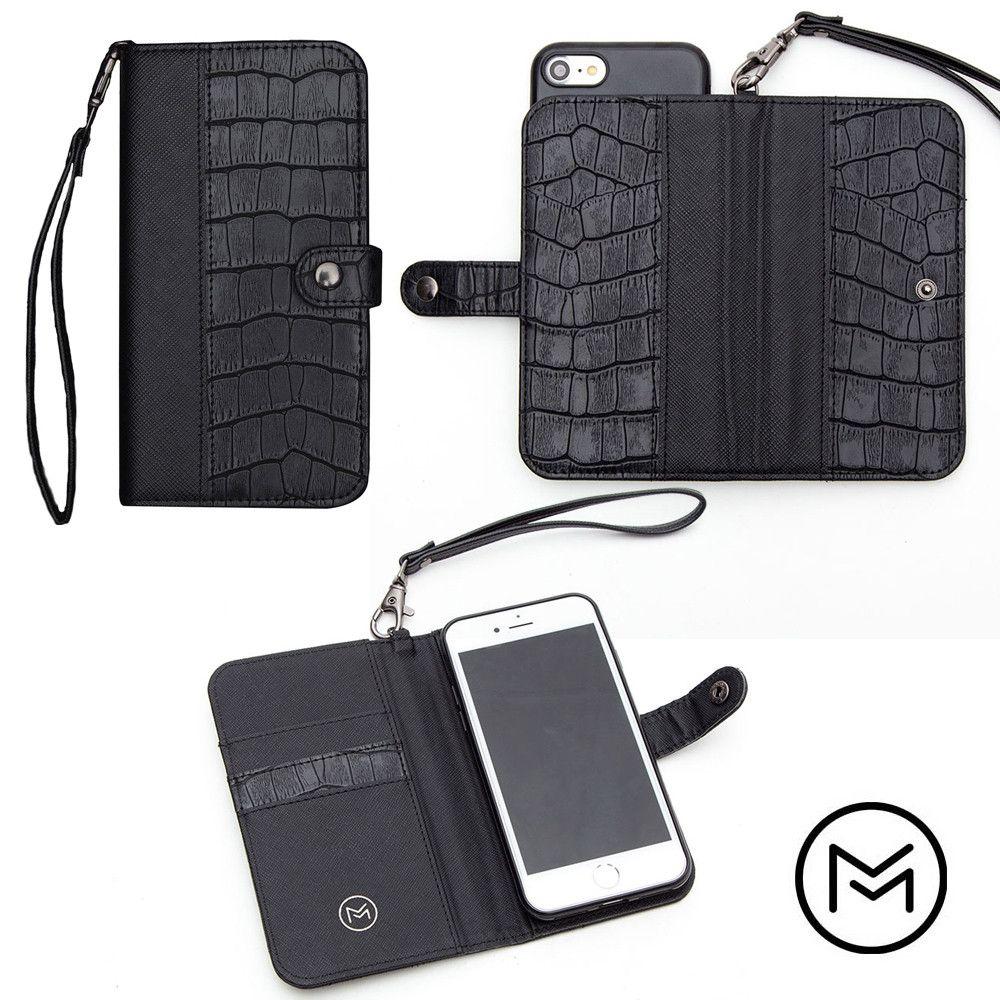 Apple iPhone 8 -  Limited Edition Mobovida Stanton Slide Wallet Case, Jet Black