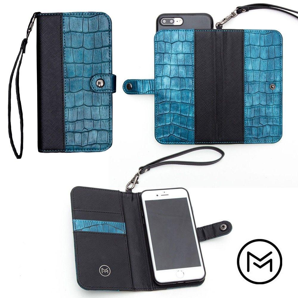 Apple iPhone 8 -  Limited Edition Mobovida Stanton Slide Wallet Case, Cobalt/Black