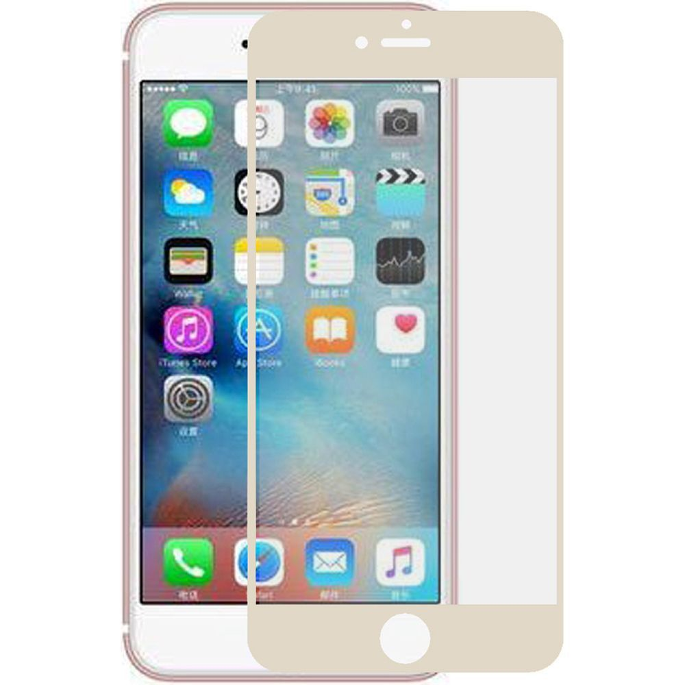 Apple iPhone 8 -  Full Edge Colored Tempered Glass Screen Protector, Gold