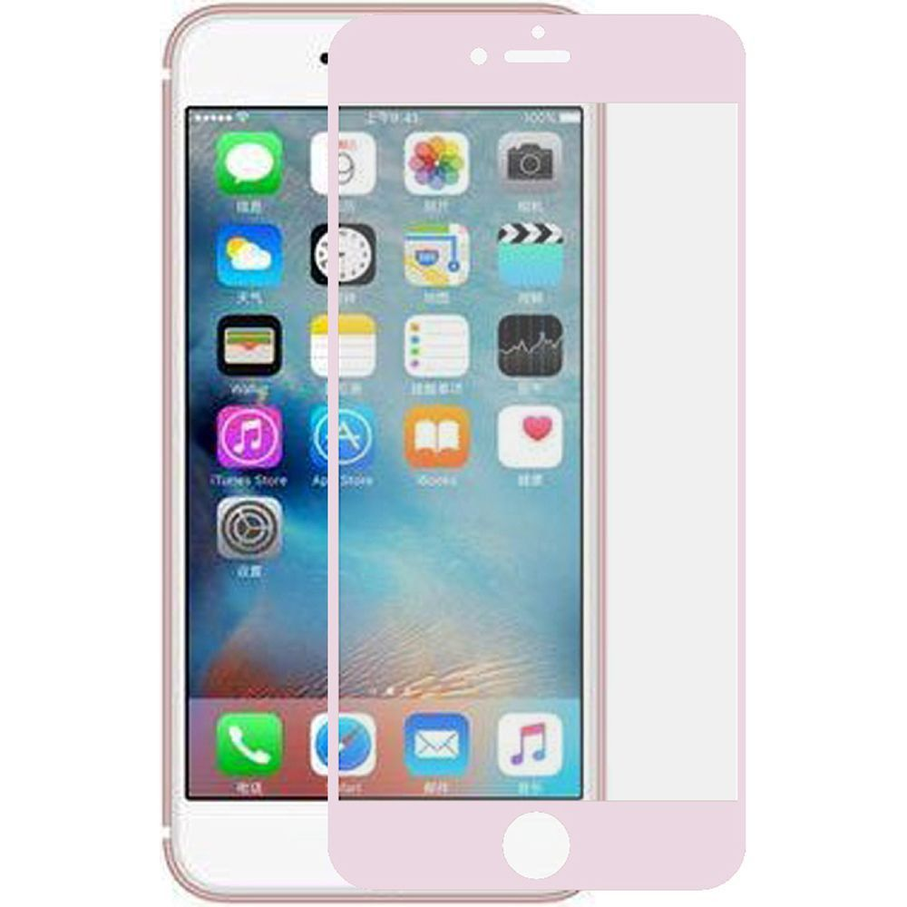 Apple iPhone 8 -  Full Edge Colored Tempered Glass Screen Protector, Rose Gold