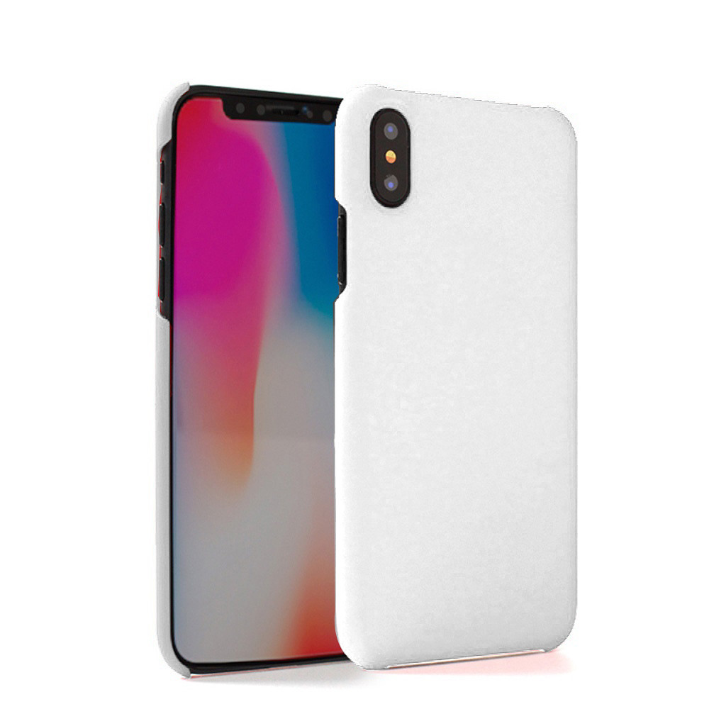Apple iPhone X -  Ultra Slim Fit Hard Plastic Case, White