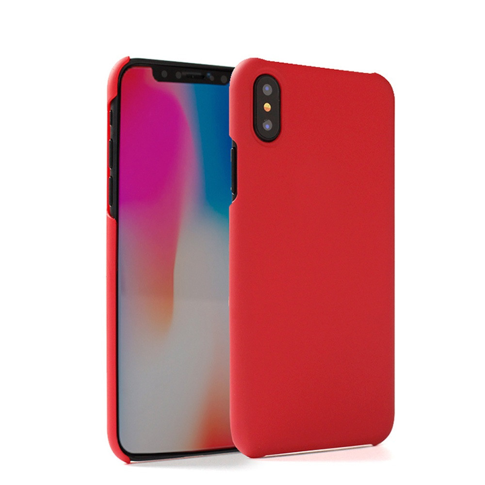 Apple iPhone X -  Ultra Slim Fit Hard Plastic Case, Red