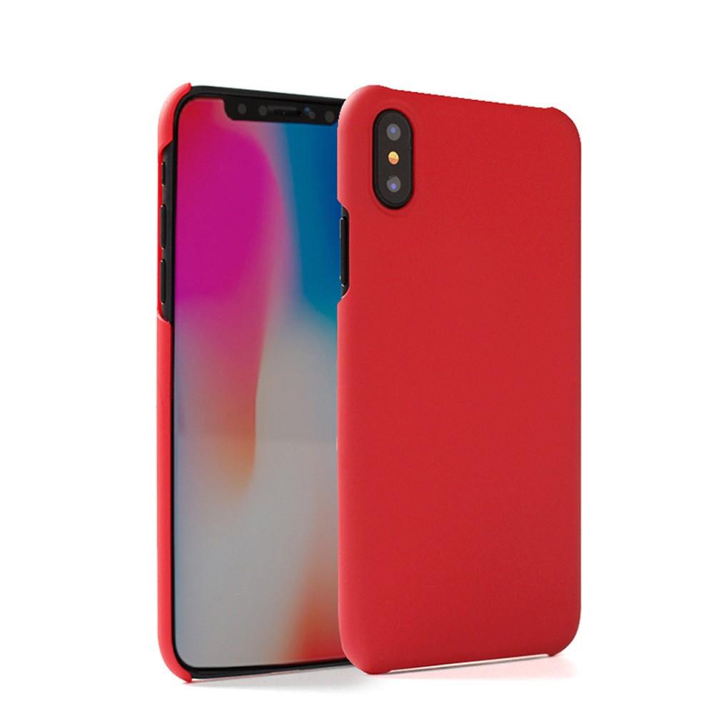 Apple iPhone X -  Ultra Slim Fit Hard Plastic Case, Red